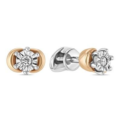Серьги с бриллиантами E01-D-L-34329