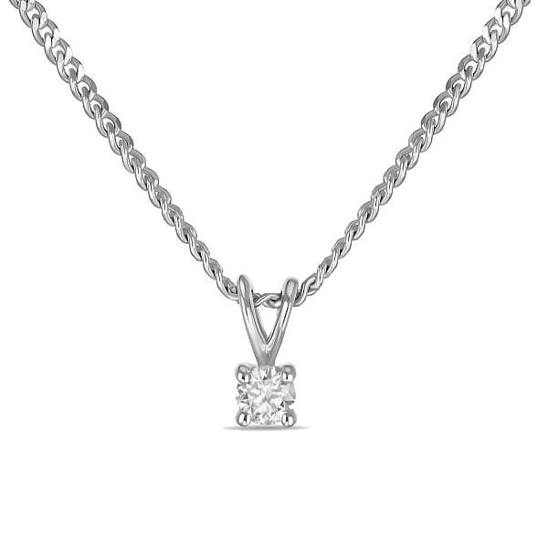 Колье с бриллиантом N01-D-SOL18-005-G2
