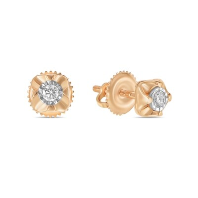 Серьги с бриллиантами E01-D-IGE-12200