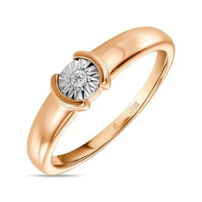 Кольцо с бриллиантом R01-D-L-PL-35046