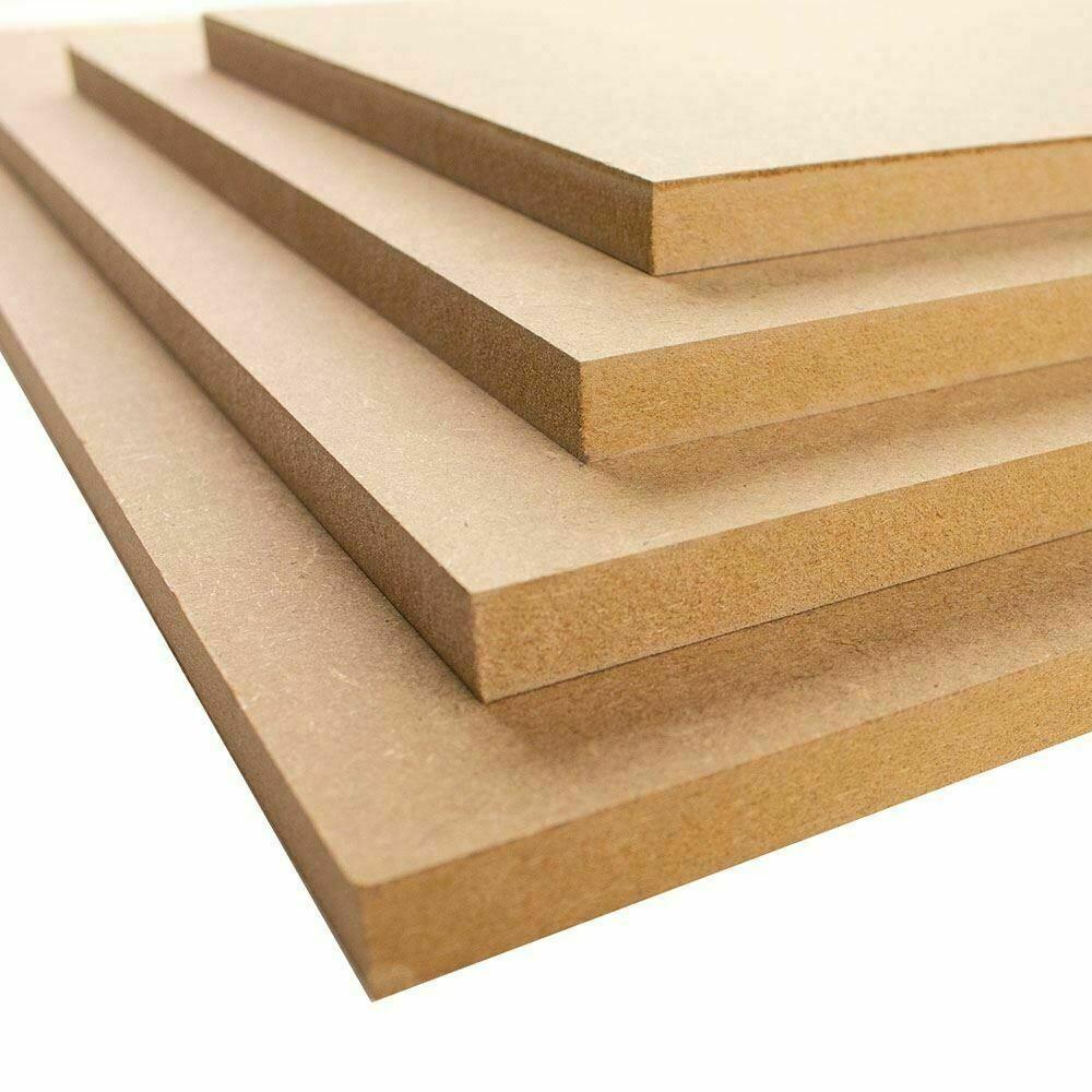 605x1200mm MDF sheets boards 2mm, 3mm, 4mm, 6mm, 9mm, 12mm, 18mm, 22mm, 25mm