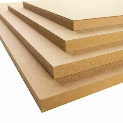 A4 MDF 210mm x 297mm sheets boards 2mm, 3mm, 4mm, 6mm, 9mm, 12mm