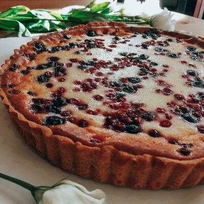 Тарт Сметанно-ягодный