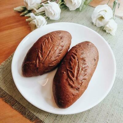 Ржаной пирожок с картофелем и грибами