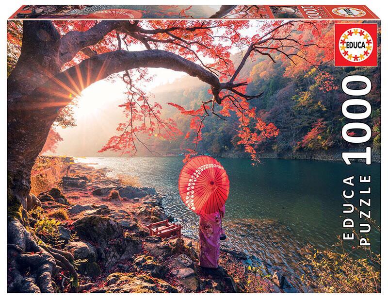 PUZZLE 1000 pcs - Sunrise in Katsura River, Japan - EDUCA
