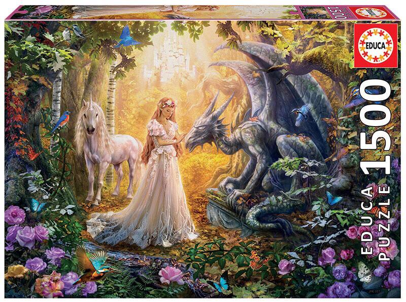 PUZZLE 1500 pcs Dragão e Princesa - EDUCA