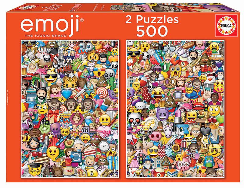PUZZLE 2x500 pcs Emoji - EDUCA