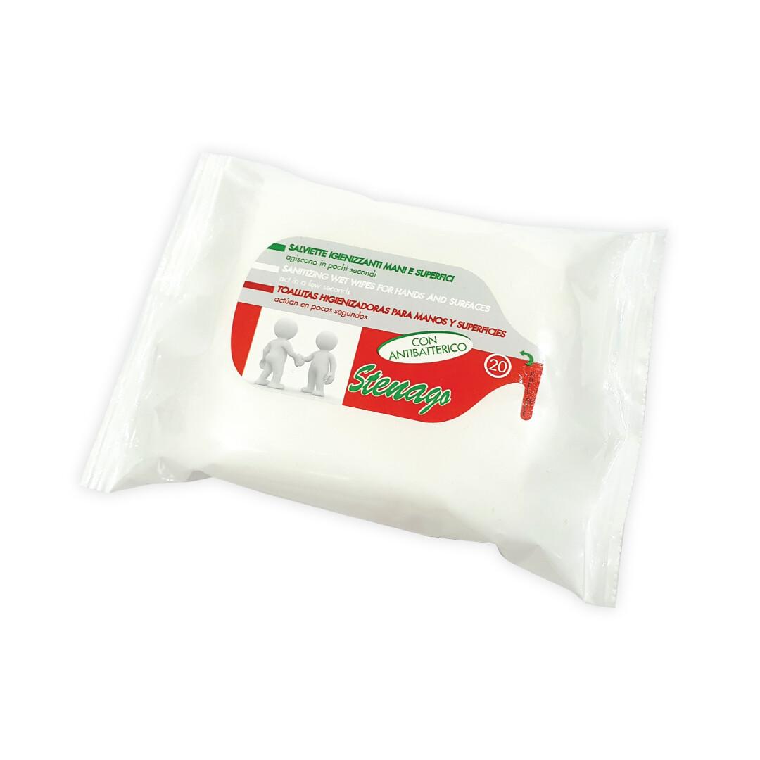 TOALHITAS Limpeza anti-bacterianas -- Pack x 20UNI
