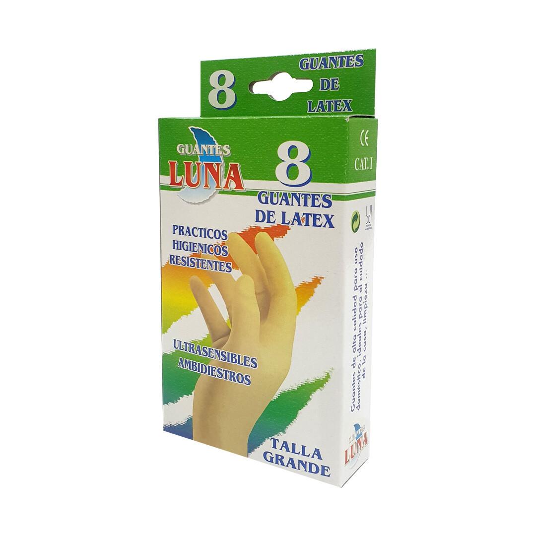 Luva de Proteção em Latex - 8 UNI - Tamanho Grande