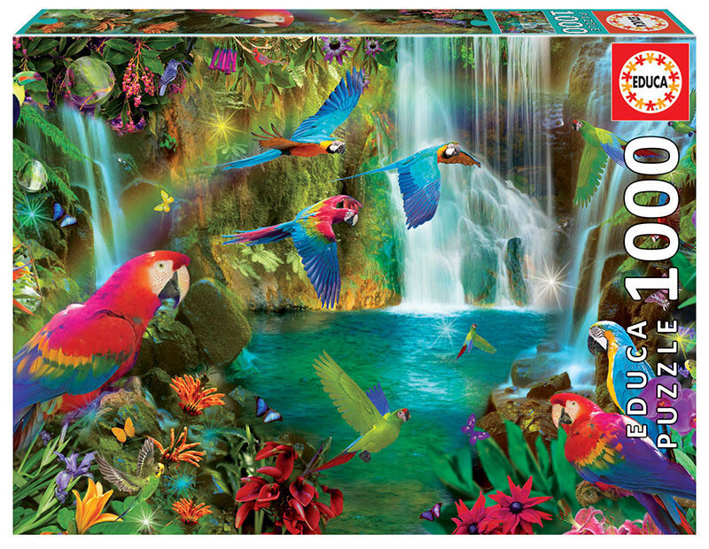 PUZZLE 1000pcs Papagaios Tropicais - EDUCA