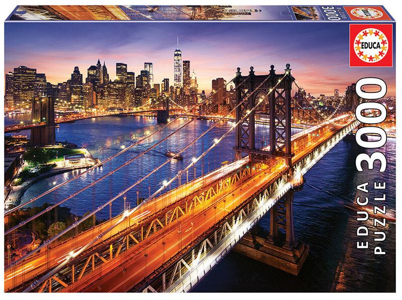 PUZZLE 3000pcs Manhattan ao Pôr-do-Sol - EDUCA