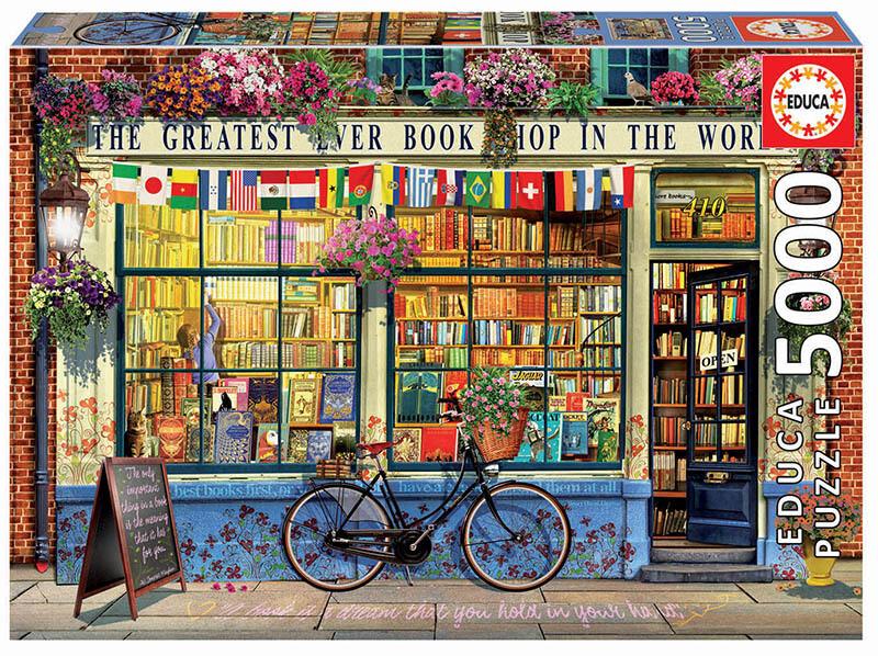 PUZZLE 5000 pcs A Melhor Livraria do Mundo - EDUCA