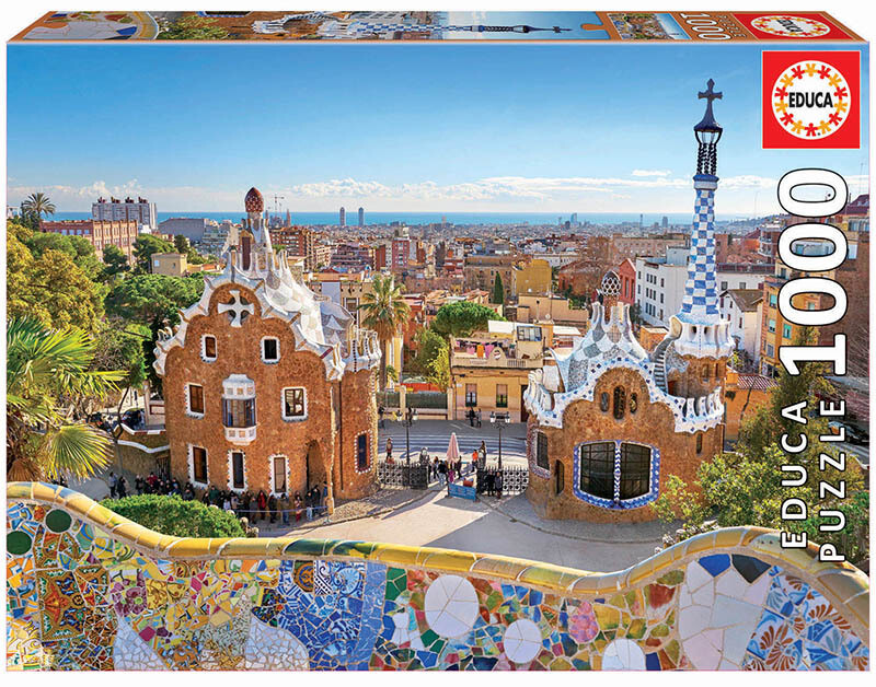PUZZLE 1000pcs Vista de Barcelona do Parque Guell - EDUCA