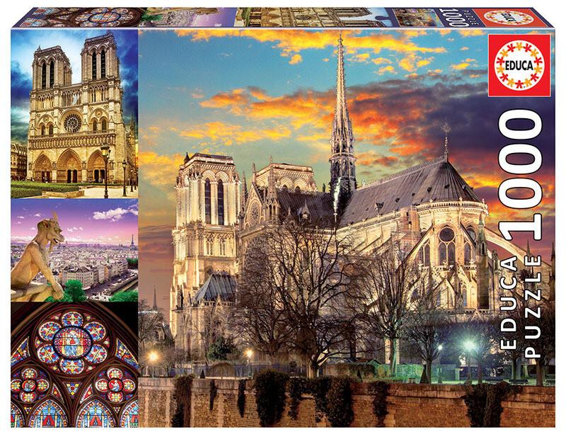 PUZZLE 1000pcs Colagem de Notre Dame - EDUCA