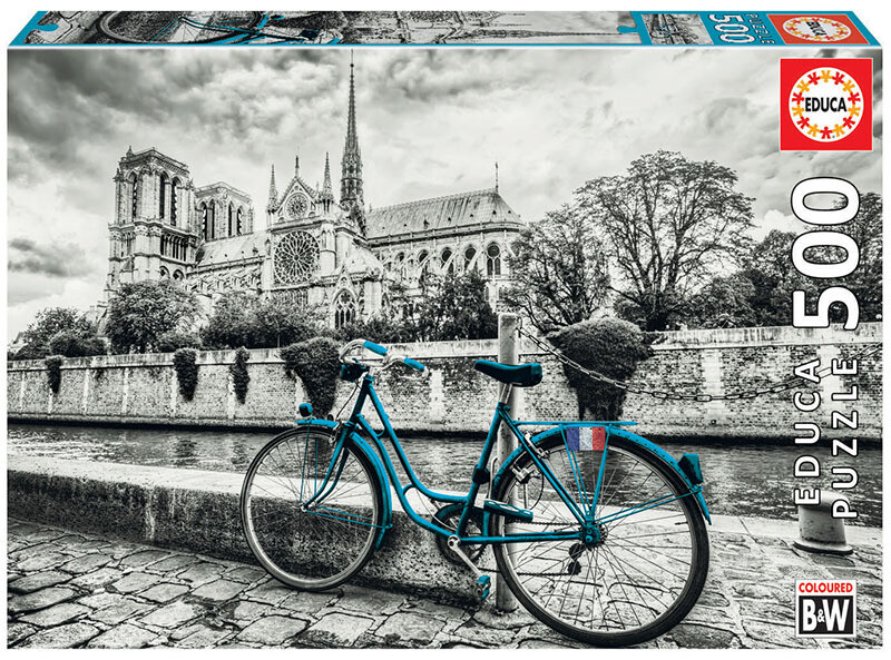 PUZZLE 500 pcs Bike Near Notre Dame - EDUCA