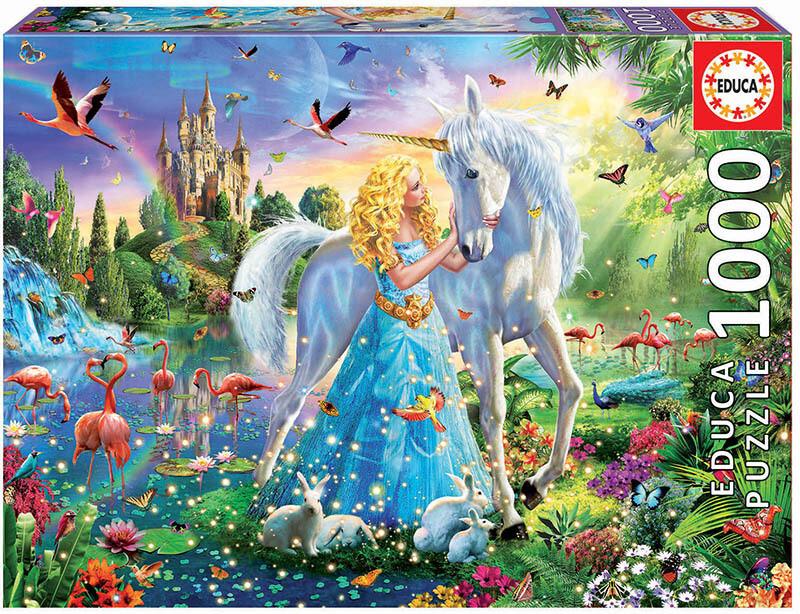 PUZZLE 1000 pcs A Princesa e o Unicórnio - EDUCA