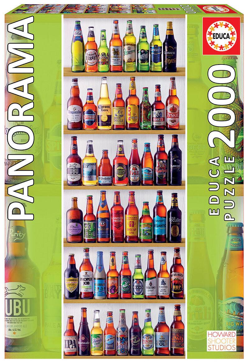 "PUZZLE 2000pcs Cervejas do Mundo ""Panorama"" - EDUCA"