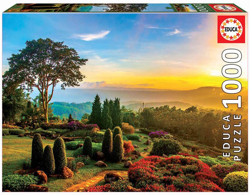 PUZZLE 1000pcs Jardim Maravilhoso - EDUCA