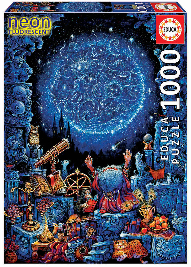 """PUZZLE 1000 pcs O Astrólogo """"NEON FLUORESCENT"""" - EDUCA"""