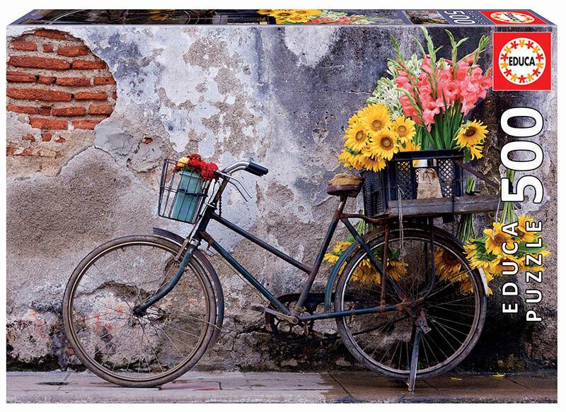 PUZZLE 500 pcs Bicicleta com Flores - EDUCA