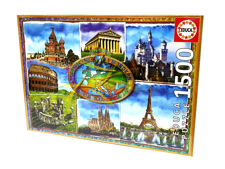 PUZZLE 1500 pcs Sete Maravilhas da Europa - EDUCA