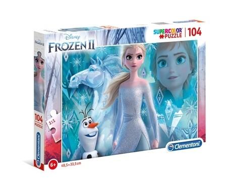 PUZZLE Super 104pcs Frozen 2 - CLEMENTONI