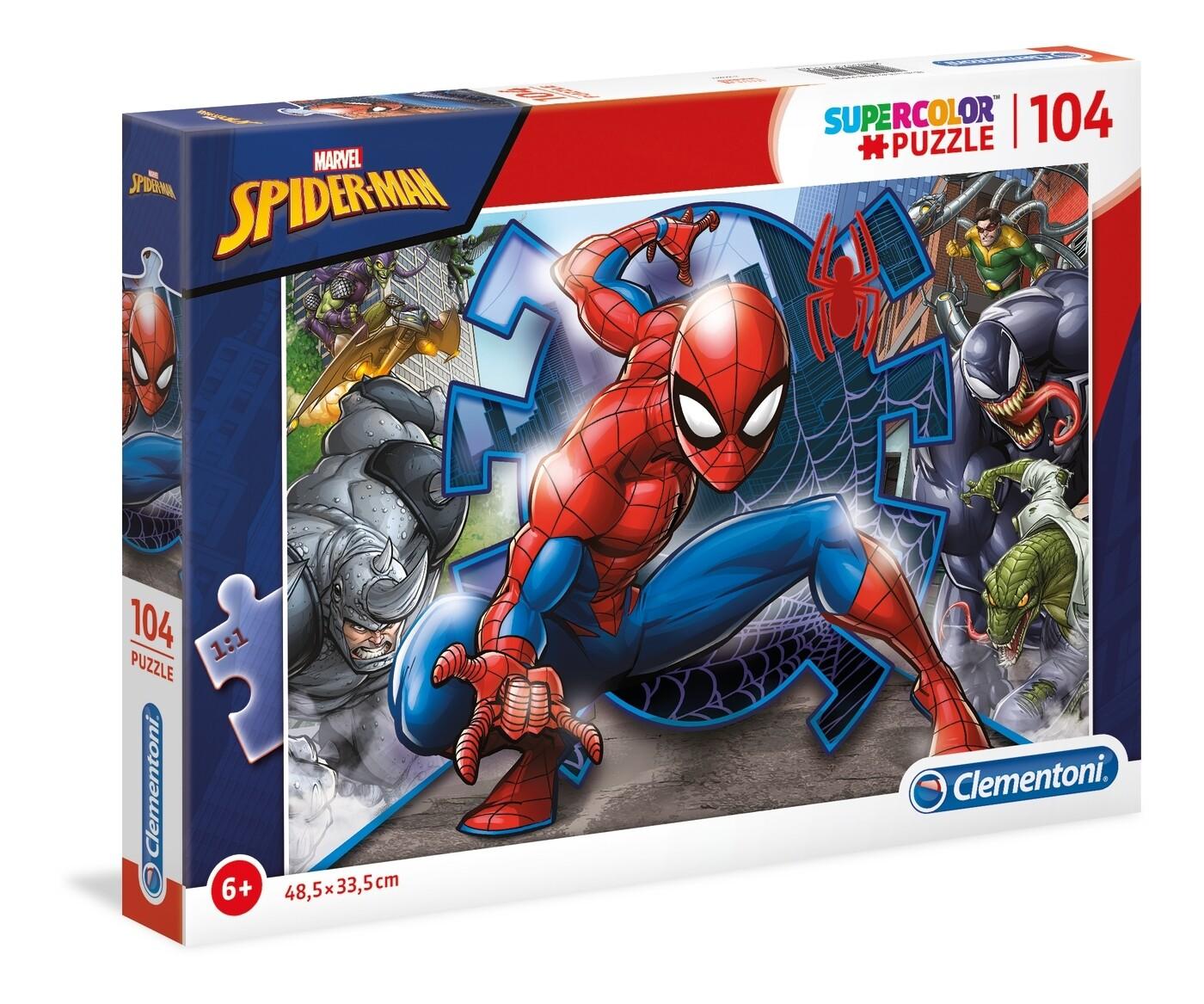 PUZZLE Super 104 pcs Spiderman - CLEMENTONI