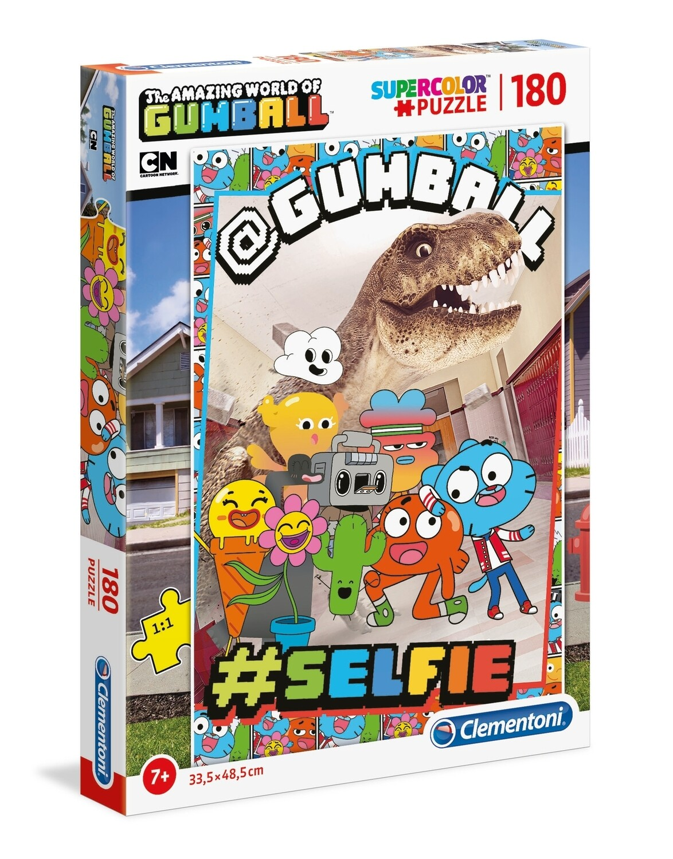 PUZZLE Super 180 pcs Gumball - CLEMENTONI