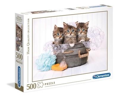 PUZZLE 500 HQ Kittens & Soap - CLEMENTONI