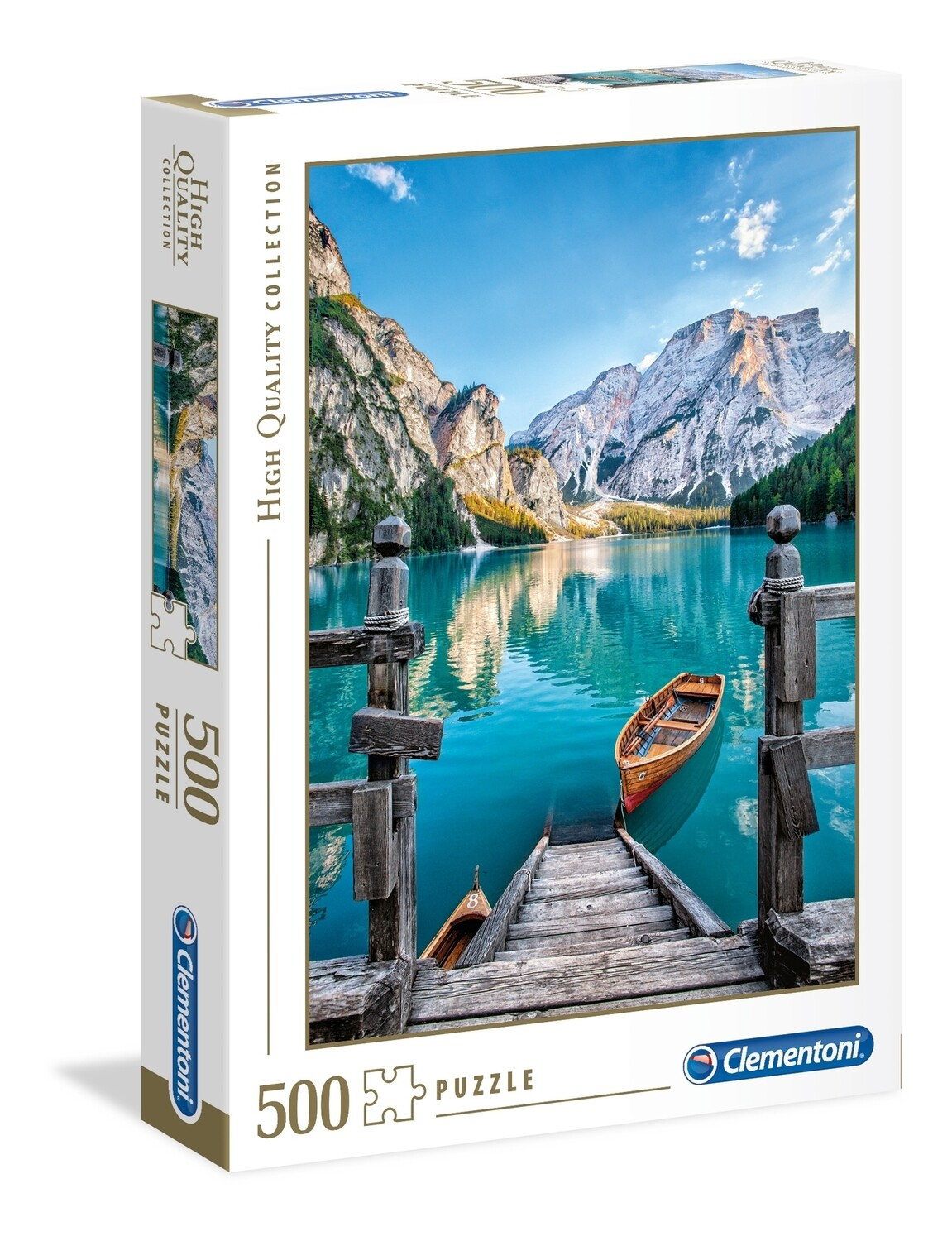 PUZZLE 500 HQ Braies Lake - CLEMENTONI
