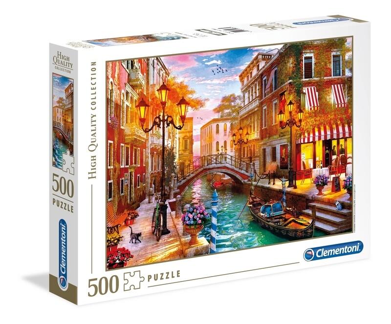 PUZZLE 500 HQ Sunset over Venice - CLEMENTONI