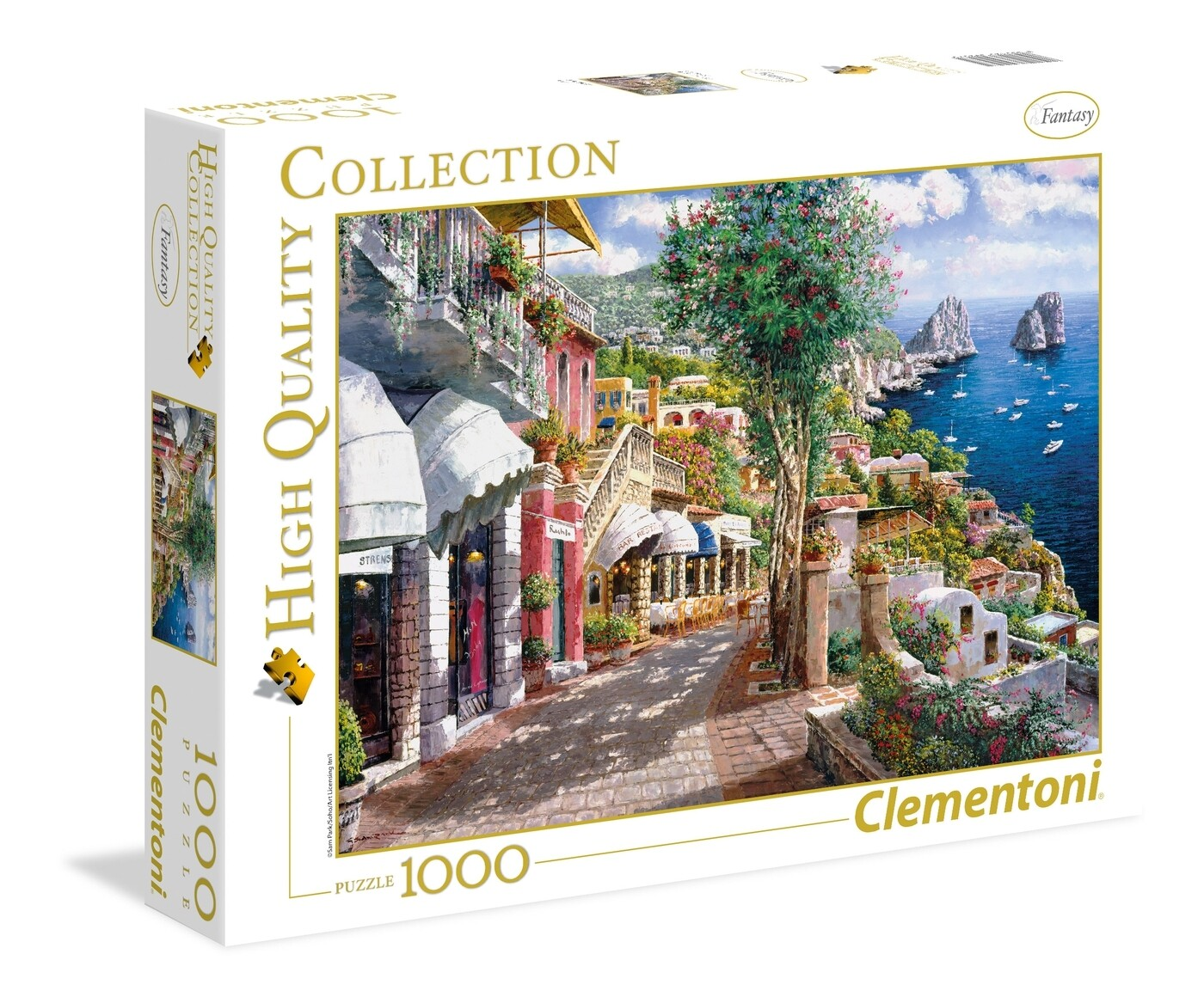 PUZZLE 1000 HQ Capri - CLEMENTONI