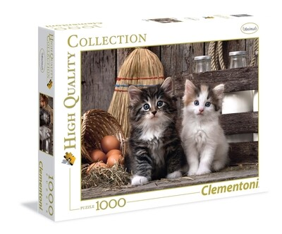 PUZZLE 1000 HQ Lovelly Kittens - CLEMENTONI
