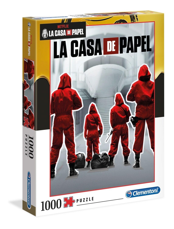 PUZZLE 1000 pcs La Casa de Papel - Equipo - CLEMENTONI