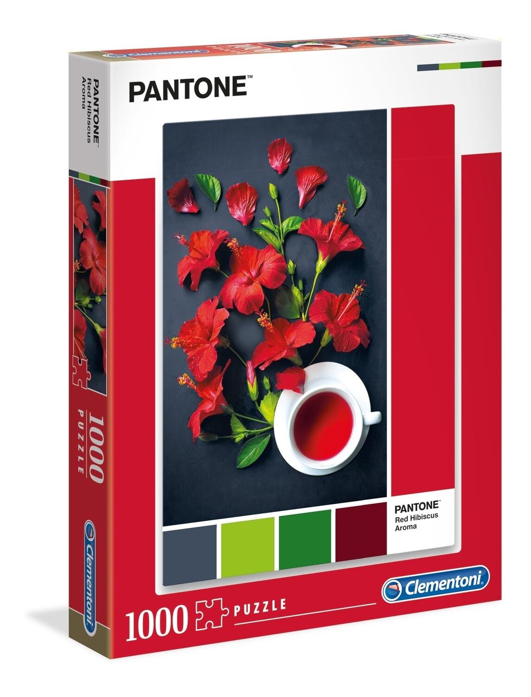 PUZZLE 1000pcsColeção Pantone 3 - RED HIBISCUS - CLEMENTONI