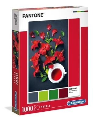 PUZZLE 1000 pcs Coleção Pantone 3 - RED HIBISCUS - CLEMENTONI