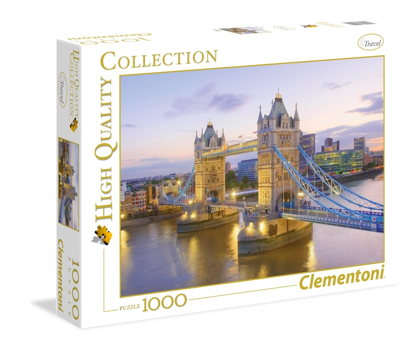 PUZZLE 1000 HQ Tower Bridge - CLEMENTONI