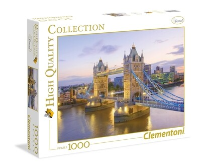 PUZZLE 1000 HQ Tower Bridge - CLEMENTONI