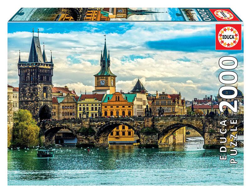 PUZZLE 2000 pcs Vistas de Praga - EDUCA