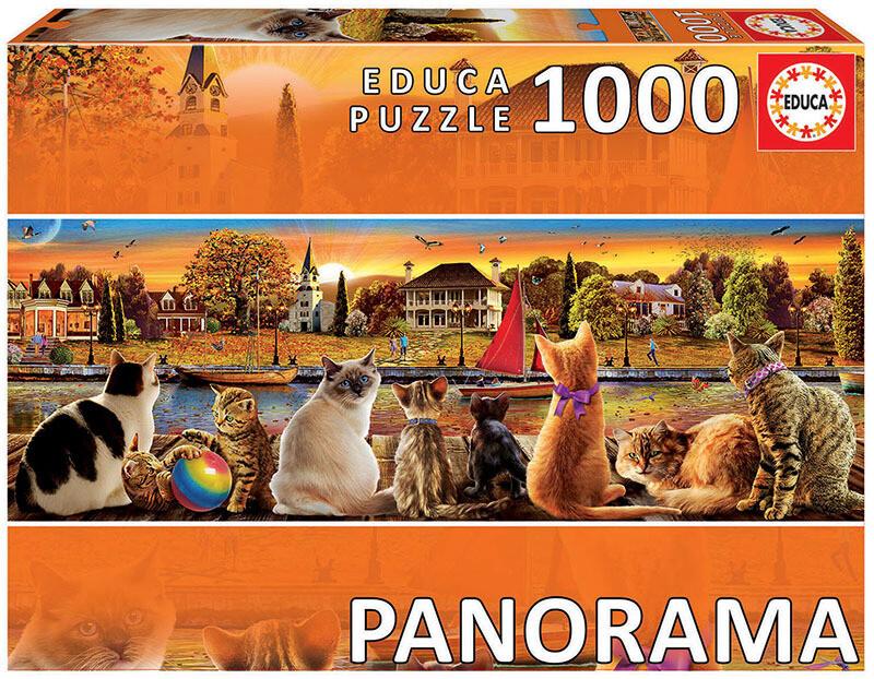 PUZZLE 1000pcs Panorama - CAIS DE GATOS  - EDUCA