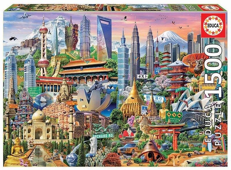 PUZZLE 1500 pcs Símbolos da Ásia  - EDUCA