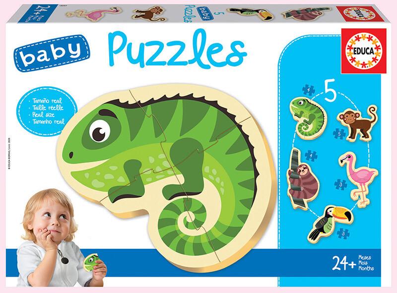 BABY PUZZLES Animais Tropicais - EDUCA