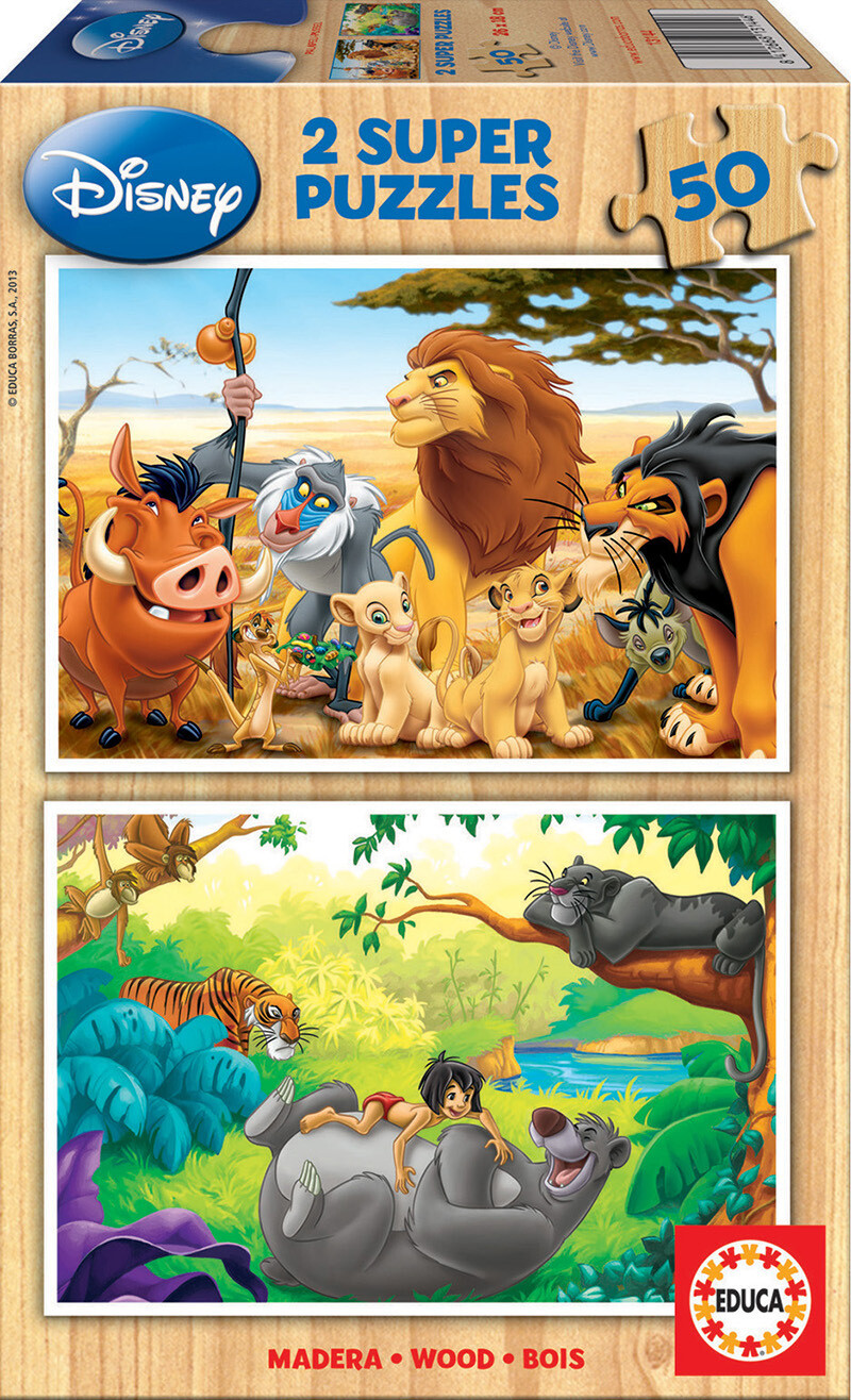 PUZZLE 2x50 pcs Madeira - Disney ANIMAL FRIENDS - EDUCA