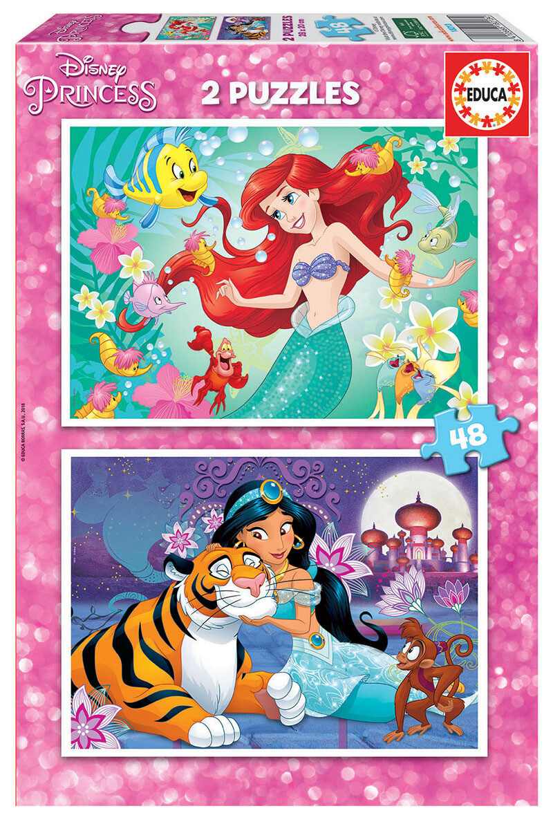 PUZZLE 2x48 pcs Ariel & Jasmin - EDUCA