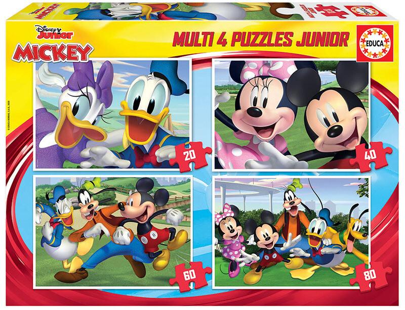 PUZZLES 20+40+60+80PCS MICKEY Disney Junior - EDUCA