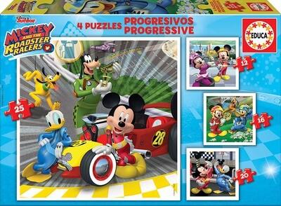 PUZZLE 12/16/20/25PCS Mickey e os Superpilotos - EDUCA