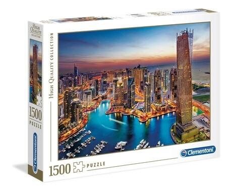 PUZZLE 1500 HQ Dubai Marina - CLEMENTONI