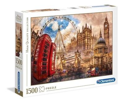 PUZZLE 1500 HQ Vintage London - CLEMENTONI