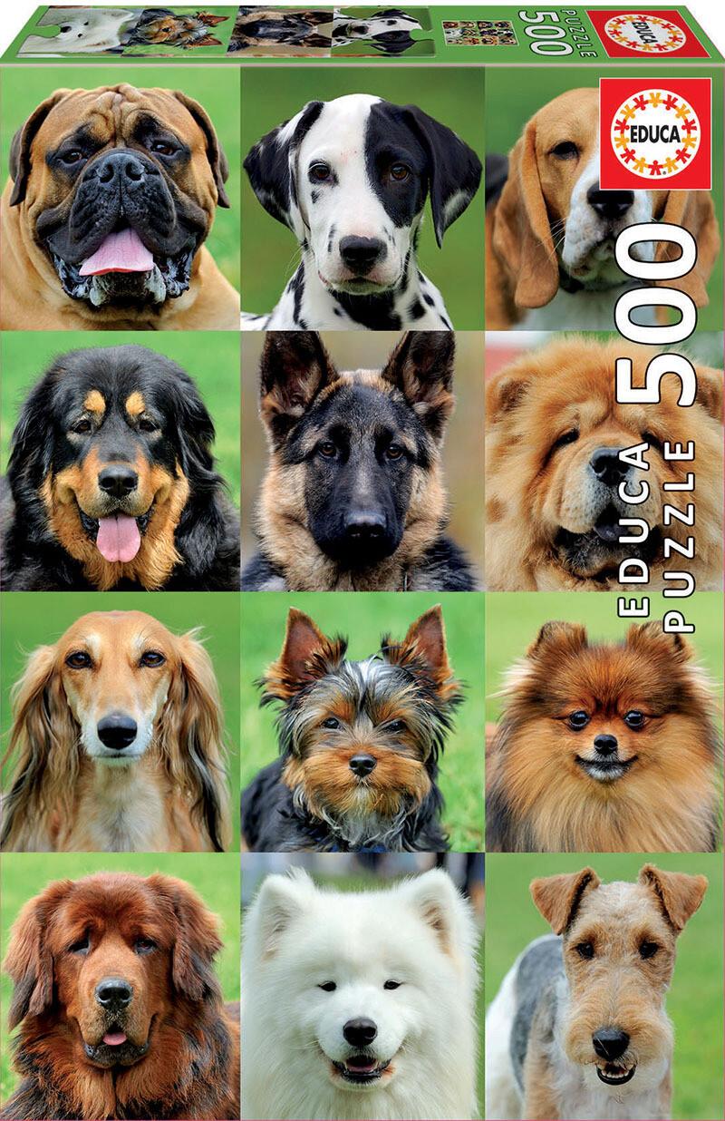 PUZZLE 500pcs Colagem de Cães - EDUCA