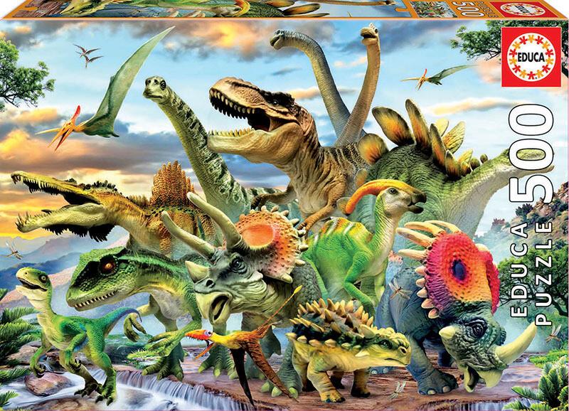 PUZZLE 500 pcs Dinossauros - EDUCA